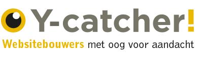 Logo Y-Catcher, wij maken een eye-catcher van uw website