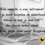 Zie je website als een instrument en krijg meer aanvragen!