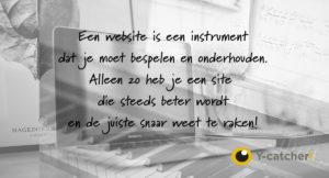 Website als instrument zien om zo steeds beter te worden!