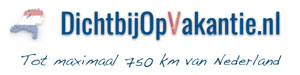 Ga dichtbij op vakantie tot 750 van Nederland